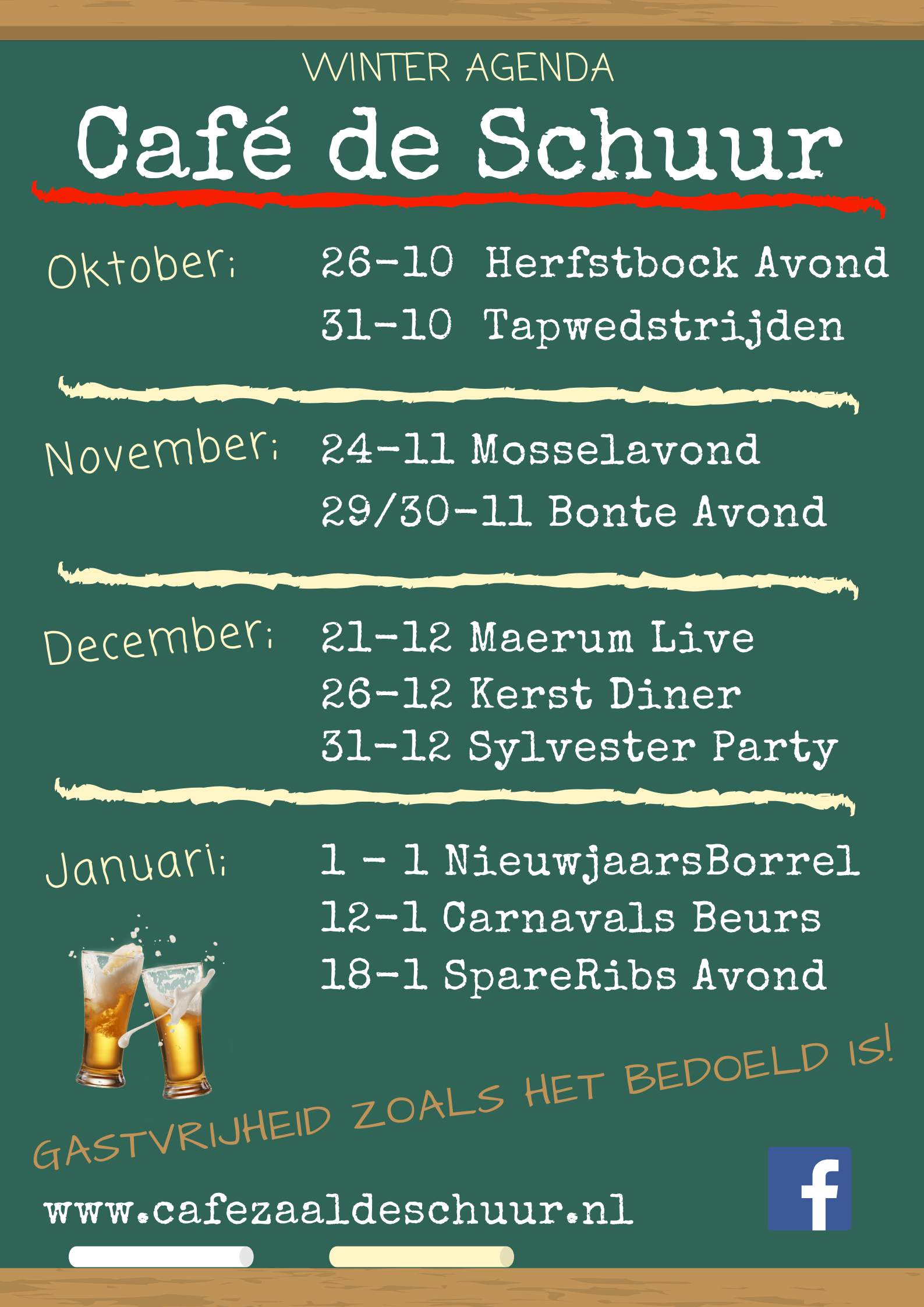Schuur winter agenda